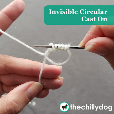 The invisible circular cast on is a combination of the provisional knit cast on and a magic ring in crochet