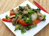 Sautéed Five-Spice Bok Choy, Mushrooms, Peppers and Green Beans