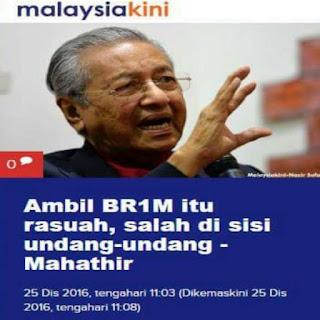 22 Tahun Mahathir Rasuah Rakyat