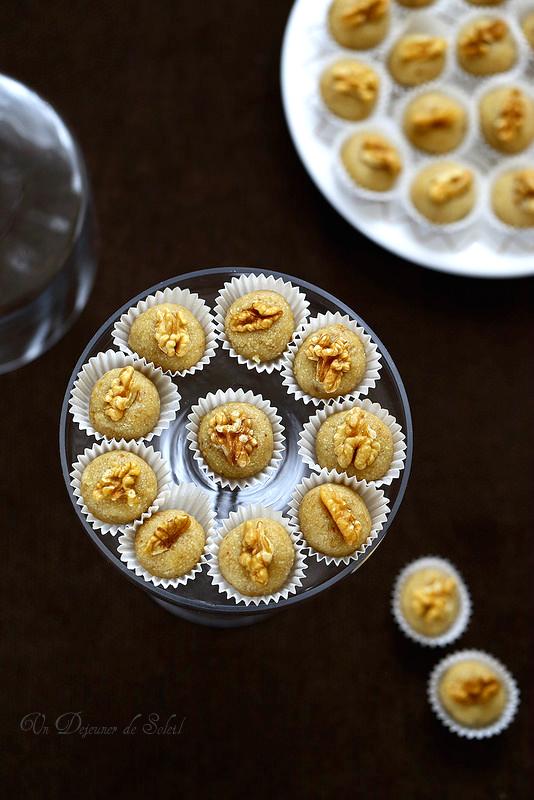 Pâte d'amandes aux noix maison