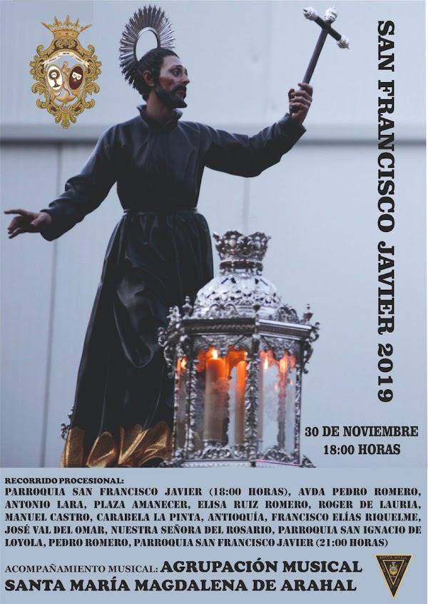 Horario y Procesión de San Francisco Javier de la Agrupación Parroquial de Arahal (Sevilla) 30 de Noviembre 2019