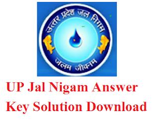 UP Jal Nigam Answer Key 2016