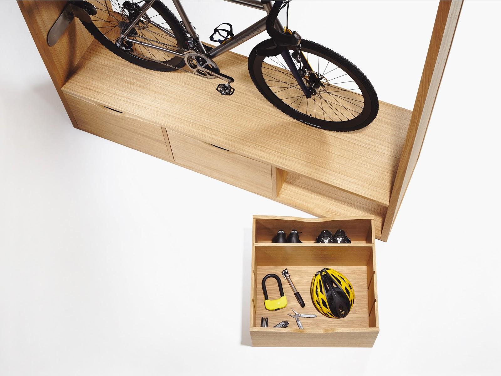 Bike Shelf Acomoda Todo Tu Equipo De Ciclismo Y La Bici Con Este  # Muebles Bicicleta