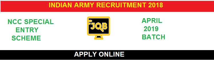 Join Indian Army NCC Special Entry Scheme April 2019| Apply Online For 45th Course