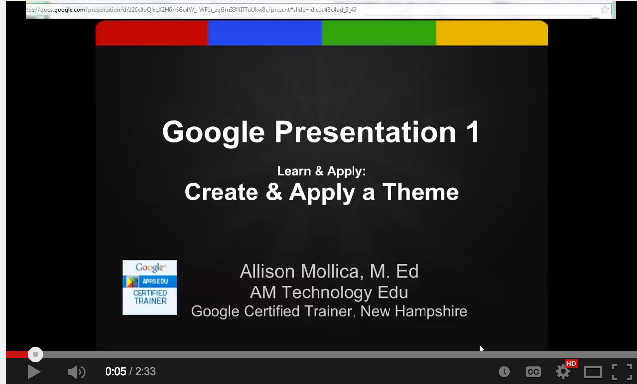 6 video tutorials to help teachers use google presentation in, Presentation templates