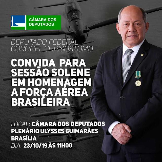 Sessão Solene em Homenagem ao Dia da Força Aérea Brasileira e ao Dia do Aviador