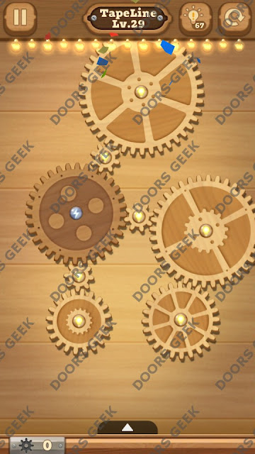 Fix it: Gear Puzzle [TapeLine] Level 29 Solution, Cheats, Walkthrough for Android, iPhone, iPad and iPod