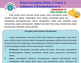 Kunci Jawaban Kelas 5 Tema 2 Subtema 2 Pembelajaran 5 www.simplenews.me