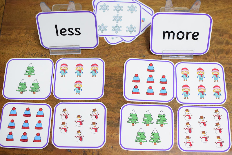 Hands-on Less and More Counting Activities
