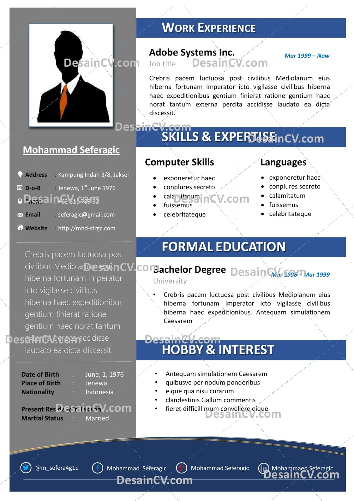 Contoh Curriculum Vitae Bahasa Inggris Yang Menarik Help With