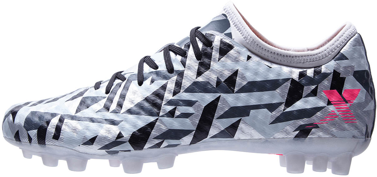 XTep Blade 1 Football Shoes - Grey / Pink