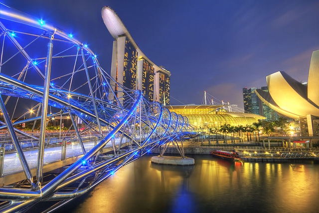 Image Attribute: The Helix Bridge, Singapore. Source: Jimmy McIntyre, flickr, used under a creative commons license.