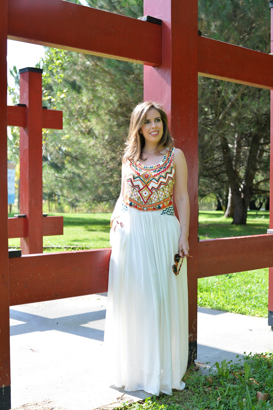 boho maxi dress petite fashion blogger