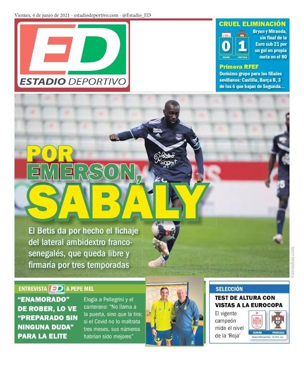 """Betis, Estadio Deportivo: """"Por Emerson, Sabaly"""""""