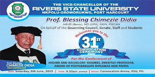 RSUST 31st Convocation Ceremony Programme of Events 2019