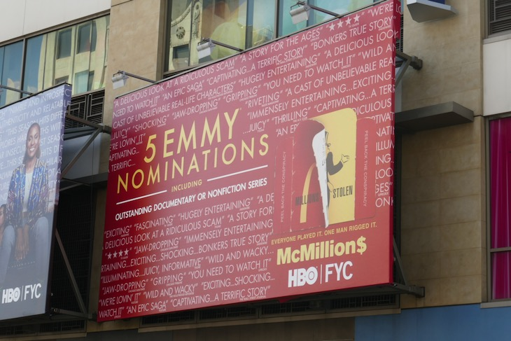 McMillions 2020 Emmy nominee billboard