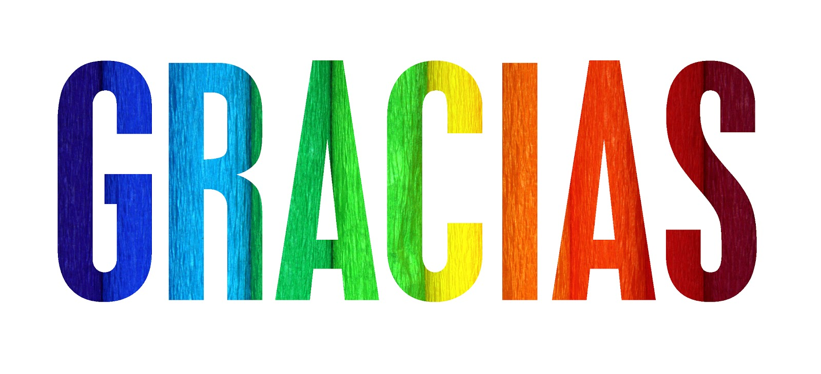 Letras Gracias de colores - Imagenes y Carteles