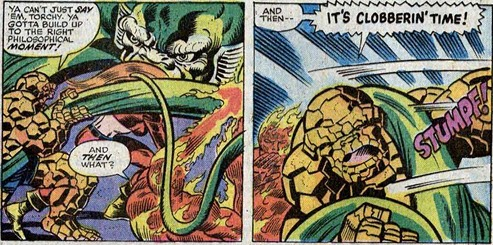 Fantastic Four 153-Mahkizmo-Thing-Torch
