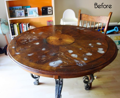My Kitchen Table Redo & Tips for Stripping and Staining ...