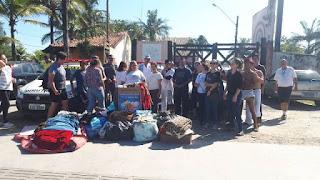 Sabesp participa de carreata em prol da Campanha do Agasalho na cidade de Ilha Comprida