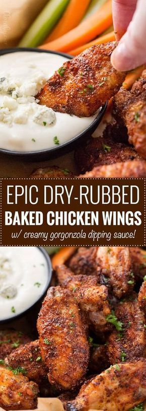 EPIC DRY-RUBBED BAKED CHICKEN WINGS #Epicfood #Dryrubbedfood #Bakedchicken #Chicken #Wingschickenfood #Bestdinner #Dinnerrecipe