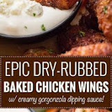 EPIC DRY-RUBBED BAKED CHICKEN WINGS