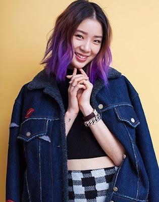 Model Rambut Oval Purple Hair