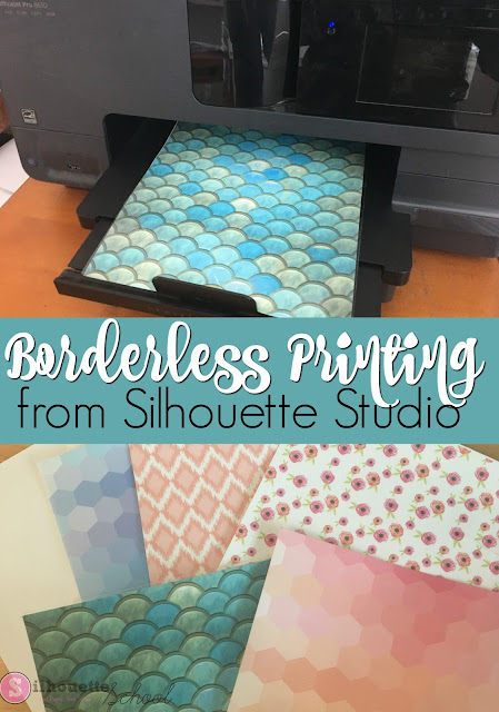 silhouette 101, silhouette america blog, borderless printing, printable vinyl, Adhesive Printable vinyl