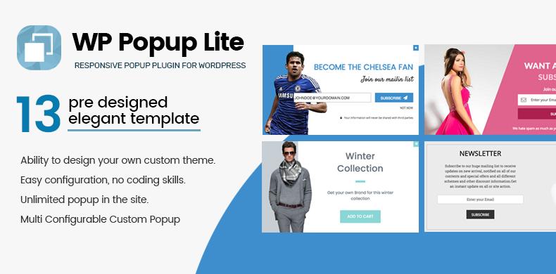 Responsive popup plugin for WordPress – WP Popup Lite