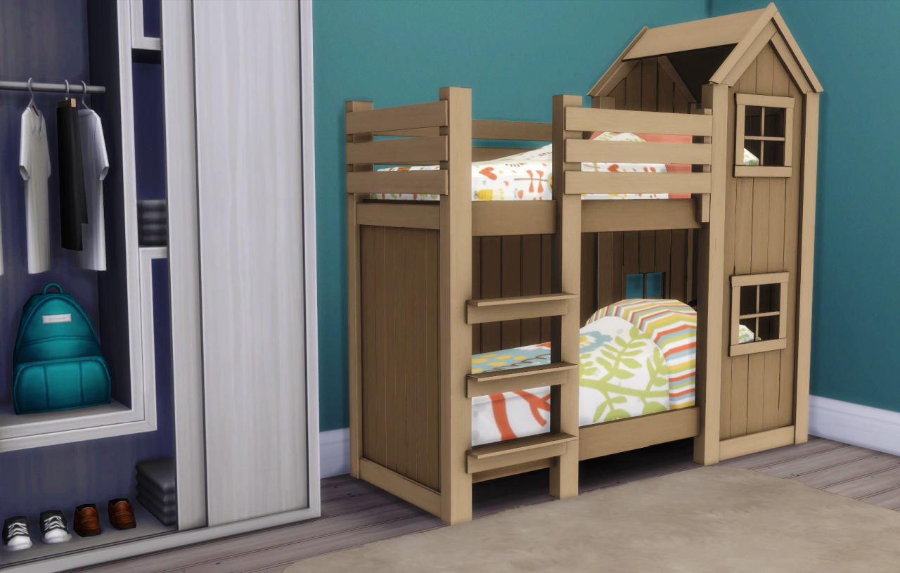 My sims 4 blog mattresses for toddler bunk beds by for Toddler bunk beds