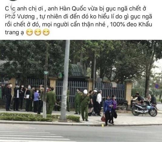 Thêm một người Hàn Quốc bỗng dưng gục chết bên vệ đường ở Việt Nam