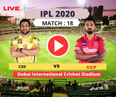 IPL 2020-: Punjab vs Chennai, 18th Match