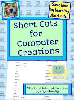 computers, short cuts for kids