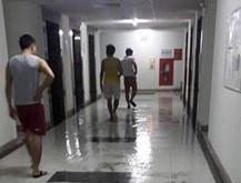 Chung cư cao tầng ngập lụt