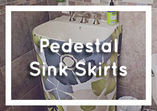 Pedestal Sink Skirts