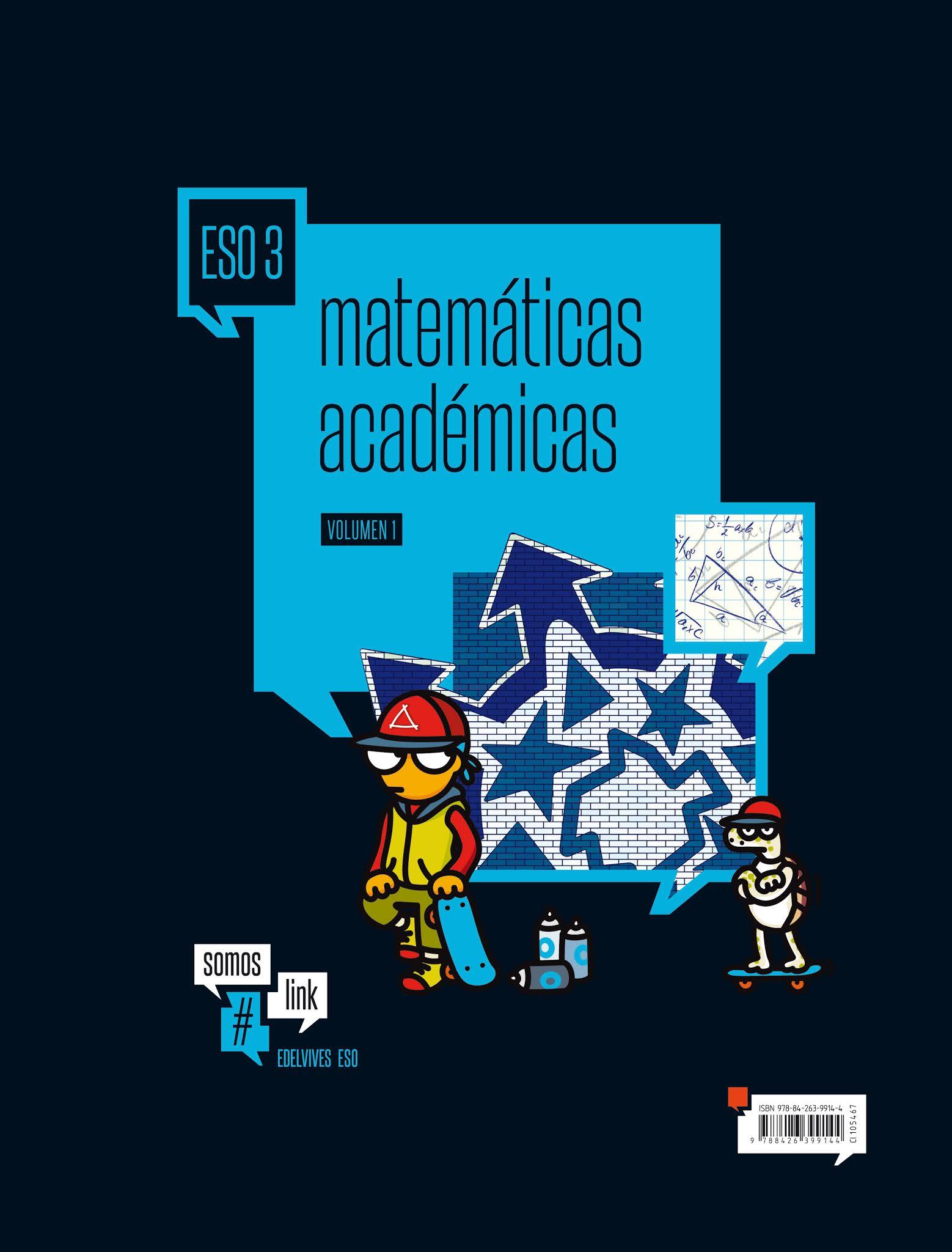 Libro Matemáticas Académicas 3º ESO Edelvives Proyecto #somoslink