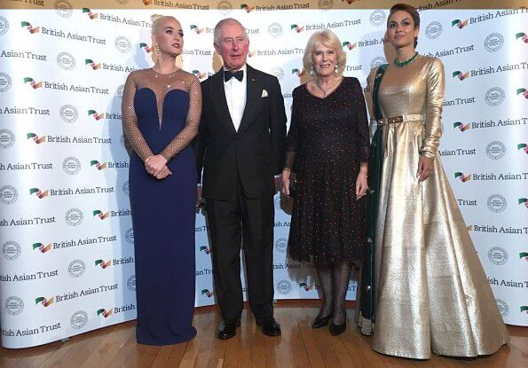 Prince Charles, the Duchess of Cornwall, American musician Katy Perry and Indian businesswoman Natasha Poonawalla