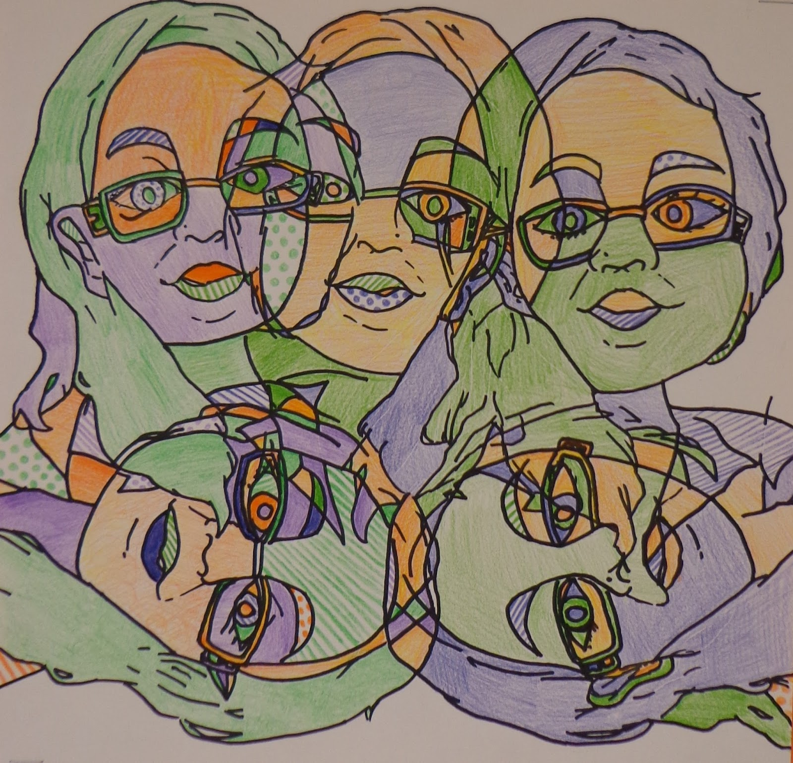 The Art Factory Contour Line Self Portraits