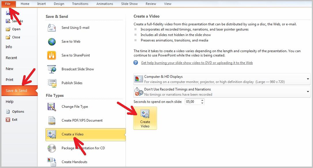 Cara Convert Ppt Ke Video Mengubah Powerpoint Menjadi Video Sinau Komputer