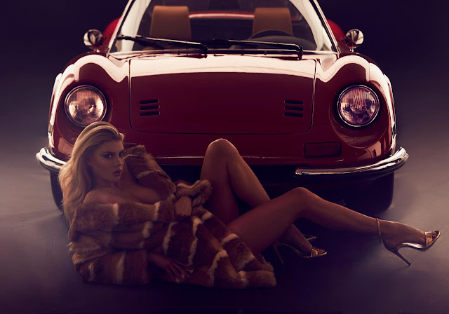 CHARLOTTE MCKINNEY STUNS IN THIS RACY FERRARI-THEMED PHOTO SHOOT