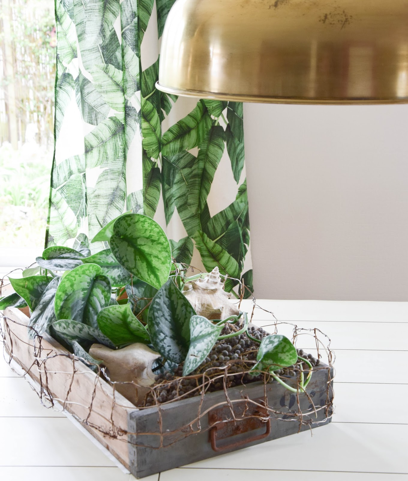 natürlich dekorieren mit deko-kiste und naturmaterialien tischdeko esszimmer holzkiste
