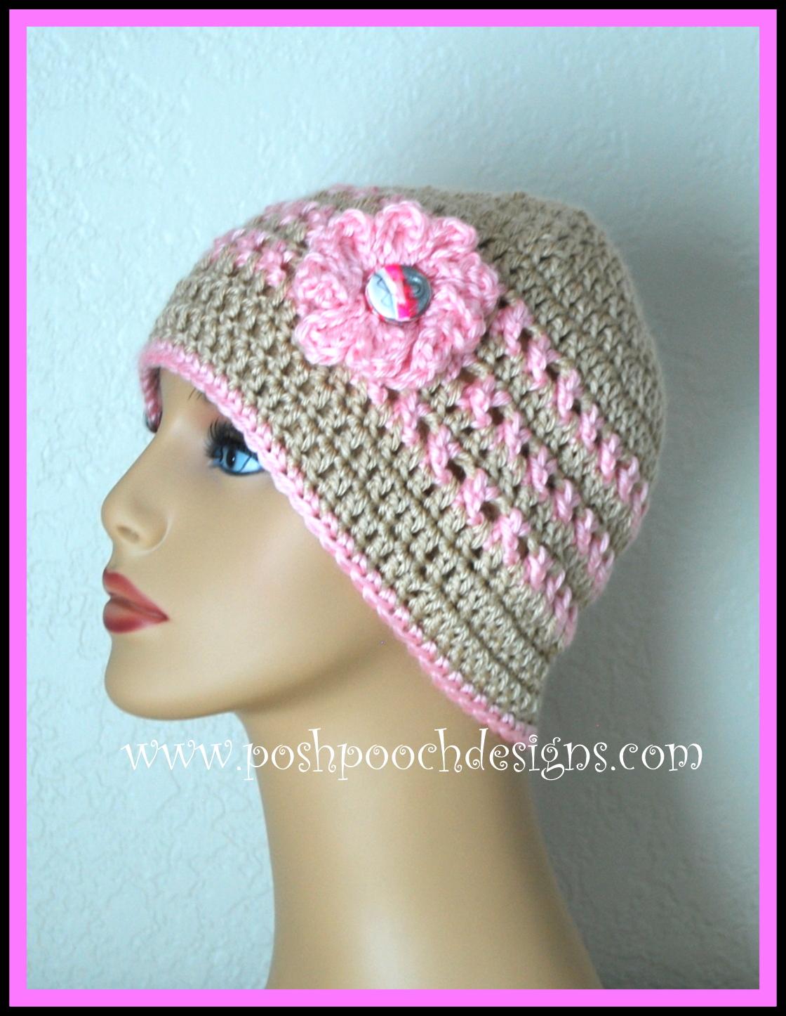 Posh Pooch Designs Dog Clothes: Ann\'s Pink Ribbon Chemo Beanie