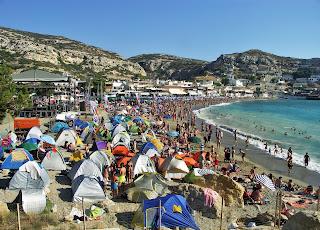 Kreta, Matala, Plaża, beach, festiwal hipisowski