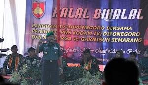 Gelar Halal Bihalal, Pangdam IV Minta Prajurit dan PNS Pedomani Nilai-Nilai Ramadhan