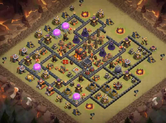 Base Town Hall 10 Clash of Clans War