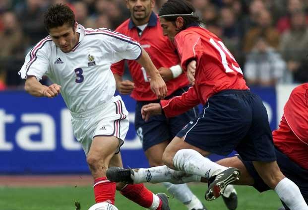 Chile y Francia en partido amistoso, 1 de septiembre de 2001