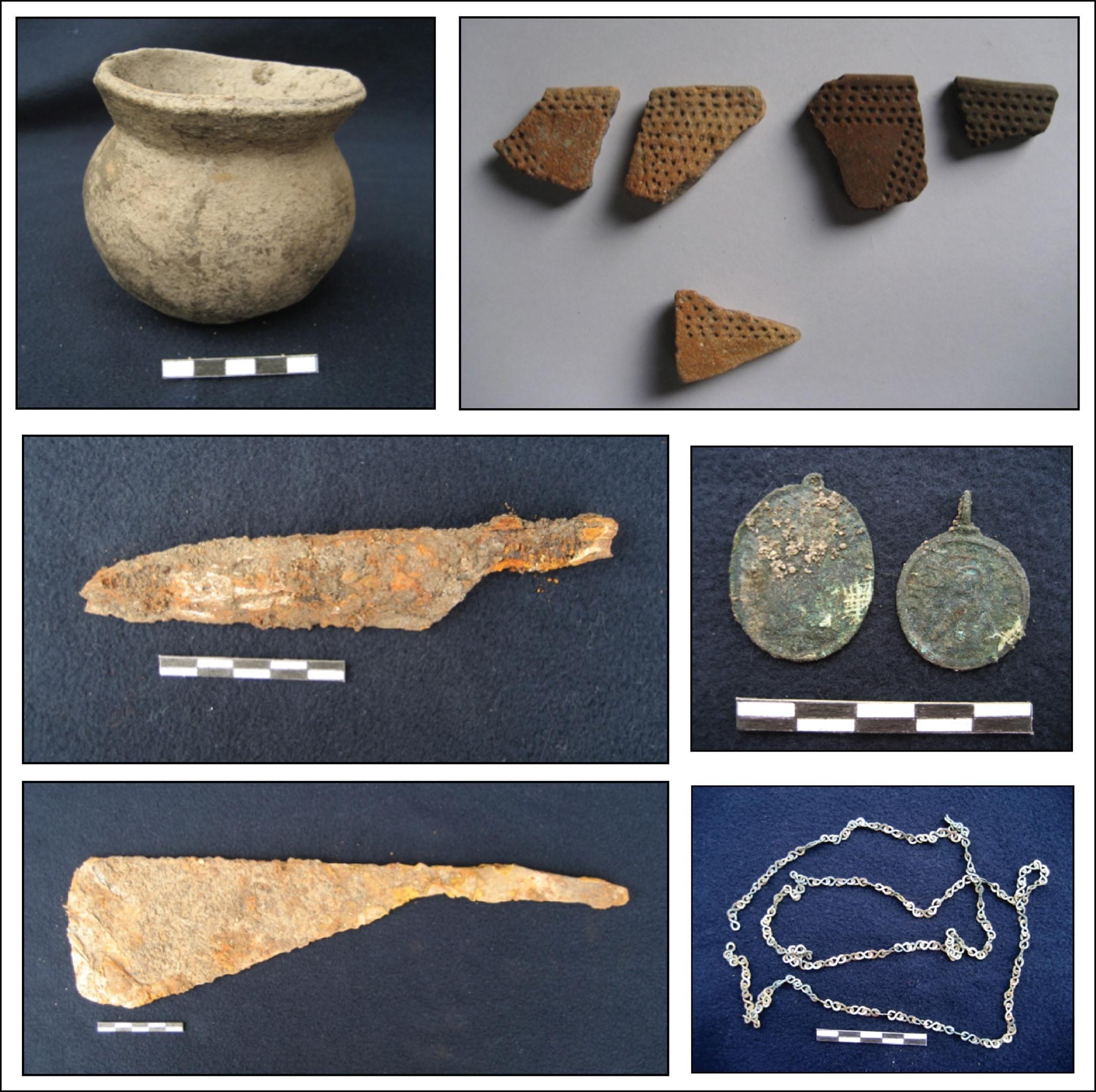 Boljoon pot, iron medallion and materials from the site Historical Burials Excavated in Boljoon, Cebu [Philippine History]