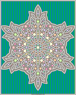 Snowflake coloring page- blank available