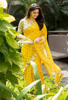 Keerthy Suresh in Yellow Saree with Cute and Awesome Lovely Smile for Mahanati Promotions 5