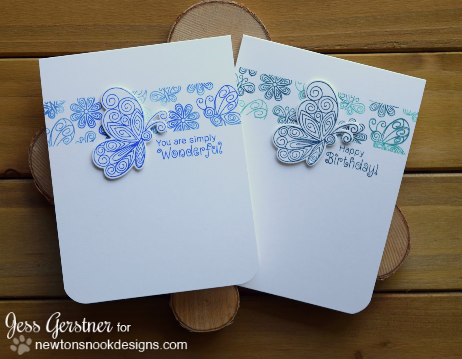 Jess crafts comparing hero arts and michaels recollection ombre butterfly ombre card by jess gerstner for newtons nook designs m4hsunfo
